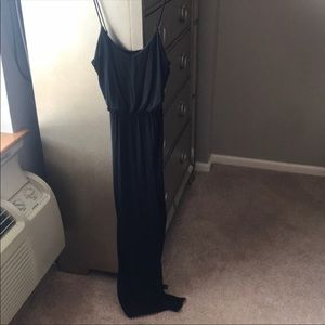 Long, comfy black dress!